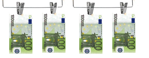 Countries that most launder money en European Union