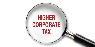 Higher corporate tax