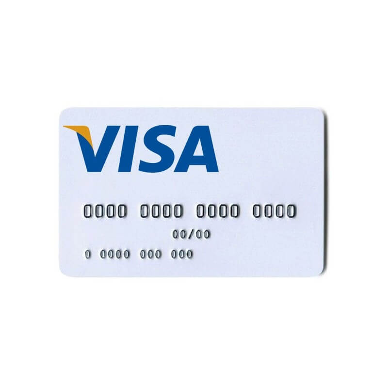 Anonymous offshore VISA card in euros