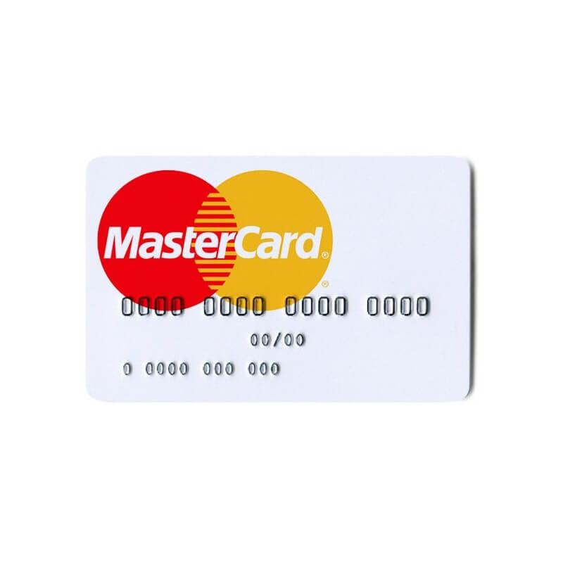 Offshore non-transferable MasterCard card in euros