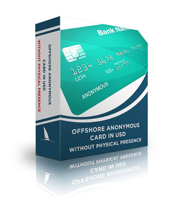 Offshore anonymous card in USD $